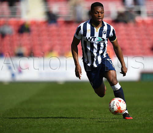 20March 25th 2017, County Ground, Swindon, Wiltshire, England; Skybet league 1 football, Swindon Town versus Millwall; Romeo of Millwall breaks forward on the ball
