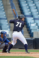 New York Yankees outfielder Nathan Mikolas (71) during an Instructional League game against the Toronto Blue Jays on September 24, 2014 at George M. Steinbrenner Field in Tampa, Florida.  (Mike Janes/Four Seam Images)
