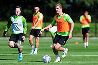 George Byers in action during the Swansea City Training at The Fairwood Training Ground in Swansea, Wales, UK. Wednesday 18 September 2019