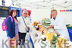 Helen Peters (Currow), Ann Wall and Tomas Pole (Nudge with the Fudge) enjoying the Food Festival in Tralee on Sunday.
