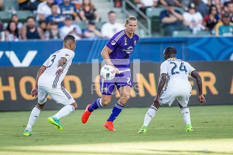 Carson, CA - September 11, 2016: The LA Galaxy go on to defeat Orlando City SC 4-2 in a Major League Soccer (MLS) match at StubHub Center.