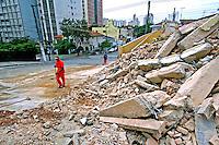 Casas demolidas em Perdizes, São Paulo. 2004. Foto de Juca Martins.