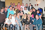 NIFTY FIFTY: Thomas Coffey, Marian Park, Tralee (seated centre), celebrated the big five O in the Glen Bar, Boherbue, last Saturday night with his daughter Lisa, sons Adrain & Kenneth and lots of family and friends.   Copyright Kerry's Eye 2008