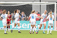 Houston, TX - Sunday April 08, 2018: Alex Morgan, Emily Sonnett, Linsey Horan, Morgan Brian during an International Friendly soccer match between the USWNT and Mexico at BBVA Compass Stadium.