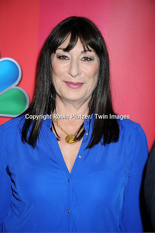 Anjelica Huston attending The NBC Upfront Presentation of the 2011-2012 Primetime Season on May 16, 2011 at The New York Hilton in New York City.