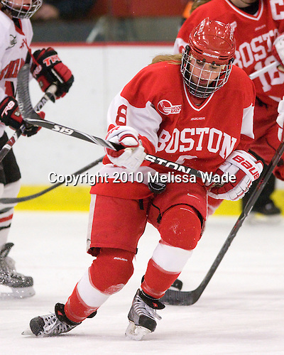 Holly Lorms (BU - 8) - The Northeastern University Huskies defeated the Boston University Terriers in a shootout after being tied at 4 following overtime in their Beanpot semi-final game on Tuesday, February 2, 2010 at the Bright Hockey Center in Cambridge, Massachusetts.