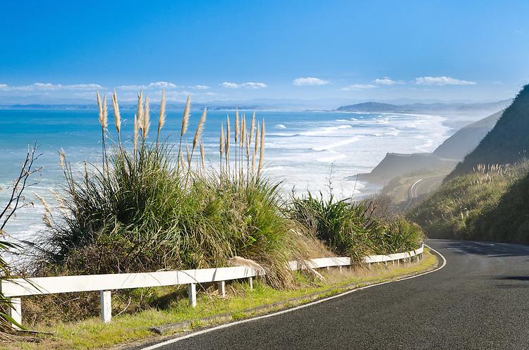 Near Waitaniwha Bay on Nuhaka to Mahia Peninsula Road. Hawkes Bay, North Island, New Zealand.