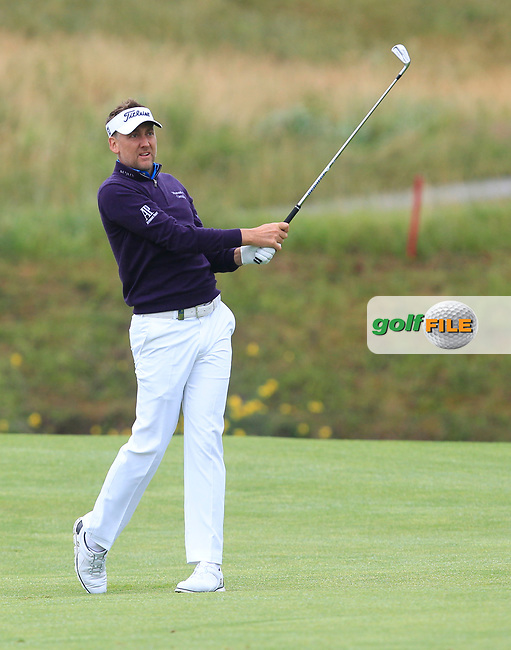 Ian Poulter (ENG) on the 1st fairway during Round 4 of the HNA Open De France  at The Golf National on Saturday 2nd July 2017.<br /> Photo: Golffile / Thos Caffrey.<br /> <br /> All photo usage must carry mandatory copyright credit       (&copy; Golffile | Thos Caffrey)