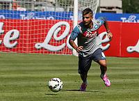 Napoli Calcio ritiro precampionato a Dimaro ( TN)  18 Luglio 2014<br /> nella foto   Lorenzo Insigne<br /> Napoli soccer pre season summer training in Dimaro
