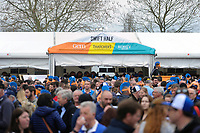 A general view of supporters enjoying the pre-match atmosphere. The Clash, Aviva Premiership match, between Bath Rugby and Leicester Tigers on April 7, 2018 at Twickenham Stadium in London, England. Photo by: Patrick Khachfe / Onside Images