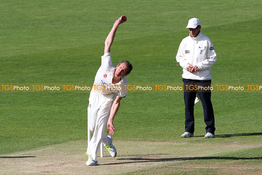 Michael Hogan in bowling action for Glamorgan - Glamorgan CCC vs Essex CCC - LV County Championship Division Two Cricket at the SWALEC Stadium, Sophia Gardens, Cardiff, Wales - 20/05/15 - MANDATORY CREDIT: TGSPHOTO - Self billing applies where appropriate - contact@tgsphoto.co.uk - NO UNPAID USE