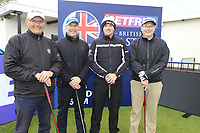 Matt Wallace (ENG) and team during the Hero Pro-am at the Betfred British Masters, Hillside Golf Club, Lancashire, England. 08/05/2019.<br /> Picture Fran Caffrey / Golffile.ie<br /> <br /> All photo usage must carry mandatory copyright credit (© Golffile | Fran Caffrey)