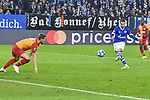 06.11.2018, Veltins-Arena, Gelsenkirchen, GER, CL, FC Schalke 04 vs Galatasaray Istanbul, DFL regulations prohibit any use of photographs as image sequences and/or quasi-video <br /> <br /> im Bild Mark Uth (#7, FC Schalke 04) macht das Tor zum 2:0<br /> <br /> Foto &copy; nordphoto/Mauelshagen