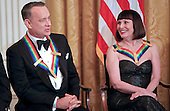 Tom Hanks and Patricia McBride at the reception where United States President Barack Obama hosts the reception for the  37th Kennedy Center Honorees in the East Room of the White House in Washington, D.C. on Sunday, December 7, 2014.  <br /> Credit: Dennis Brack / Pool via CNP
