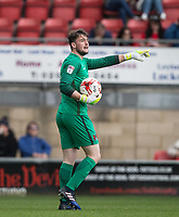 Goalkeeper Sam Sargeant of Leyton Orient during the Sky Bet League 2 match between Leyton Orient and Wycombe Wanderers at the Matchroom Stadium, London, England on 1 April 2017. Photo by Andy Rowland.