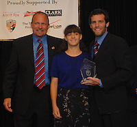 Ben Olsen receives coach's award honors from DC United head coach Tom Soehn. DC United 4th Annual Awards Reception honoring player achievements for the 2007 season took place  at the Ronald Reagan Building in Washington, DC on October 22, 2007.