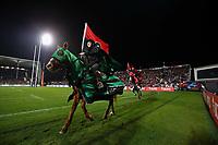 11th July 2020; Christchurch, New Zealand;  Horsemen in the pre-game celebration. Crusaders versus Blues in the Super Rugby Aotearoa. Orangetheory Stadium, Christchurch,