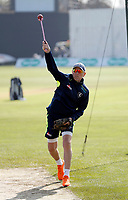 Kent assistant coach Allan Donald takes net practice during the County Championship Division 2 game between Kent and Gloucestershire at the St Lawrence Ground, Canterbury, on Fri 13 Apr, 2018.