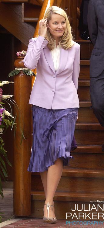 Crown Prince Haakon & Crown Princess Mette-Marit of Norway's visit to Thailand..Visit to the Yara Thailand & Pravit Group near Bangkok..