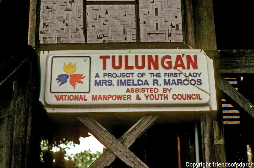 Philippines: Nayong Pilipino, Marcos Plague. Photo '82.