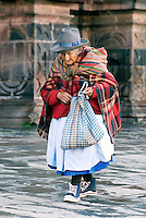 Women in Cusco display a blend of pre-colonial influences with the European clothing. The traditional Inca anacu was transformed by the local women into the brightly-colored and multi-layered petticoats known as polleras. The Peruvian poncho dates back to the 17th century. The high-top sneakers are a more recent aesthetic addition.