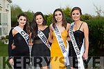 Caoimhe Lynch Tralee, Chelsea Quirke Tralee, Martina Guiney Listowel and Shannon Hambridge Tralee who competed in the Miss Kerry competition in the Killarney Heights Hotel on Saturday night