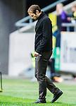 ***BETALBILD***  <br /> Solna 2015-05-31 Fotboll Allsvenskan AIK - Helsingborgs IF :  <br /> AIK:s chefstr&auml;nare tr&auml;nare Andreas Alm ser deppig ut under matchen mellan AIK och Helsingborgs IF <br /> (Foto: Kenta J&ouml;nsson) Nyckelord:  AIK Gnaget Friends Arena Allsvenskan Helsingborg HIF depp besviken besvikelse sorg ledsen deppig nedst&auml;md uppgiven sad disappointment disappointed dejected portr&auml;tt portrait tr&auml;nare manager coach