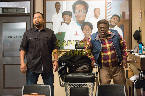 Barbershop: The Next Cut (2016)<br /> ICE CUBE as Calvin and CEDRIC THE ENTERTAINER as Eddie<br /> *Filmstill - Editorial Use Only*<br /> CAP/KFS<br /> Image supplied by Capital Pictures