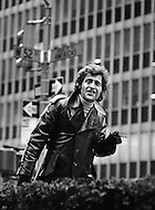 Manhattan, New York City, USA. January 1971. French Singer Joe Dassin in New York City.