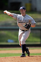 March 20, 2010: Seth Furmanek (9) of Oral Roberts pitches against UCLA at UCLA in Los Angeles,CA.  Photo by Larry Goren/Four Seam Images