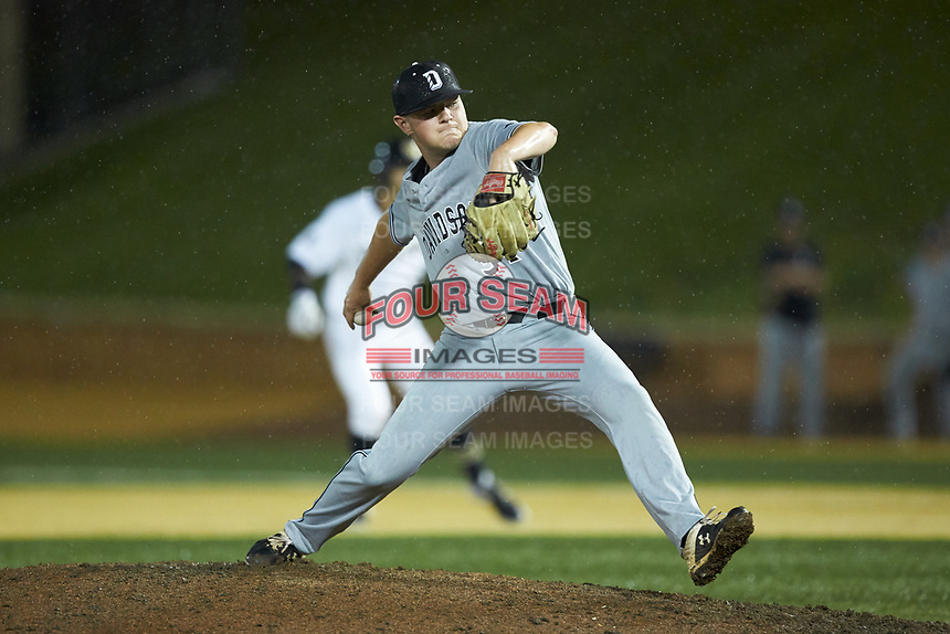 Davidson Wildcats relief pitcher Gabe Levy (34) in action against the Wake Forest Demon Deacons at David F. Couch Ballpark on May 7, 2019 in  Winston-Salem, North Carolina. The Demon Deacons defeated the Wildcats 11-8. (Brian Westerholt/Four Seam Images)
