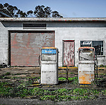 An abandoned service station in rural Winnaleah in Tasmania, Australia.