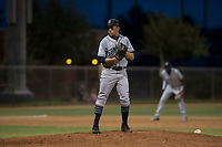AZL Padres 1 starting pitcher Omar Cruz (10) prepares to deliver a pitch during an Arizona League game against the AZL Padres 2 at Peoria Sports Complex on July 14, 2018 in Peoria, Arizona. The AZL Padres 1 defeated the AZL Padres 2 4-0. (Zachary Lucy/Four Seam Images)