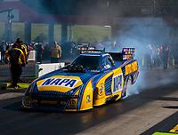 Jun 15, 2018; Bristol, TN, USA; NHRA funny car driver Ron Capps during qualifying for the Thunder Valley Nationals at Bristol Dragway. Mandatory Credit: Mark J. Rebilas-USA TODAY Sports