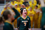 November 22, 2019; Rapid City, SD, USA; Dani Watson #7 of Northwestern reacts to a point vs. Faulkton Area at the 2019 South Dakota State Volleyball Championships at the Rushmore Plaza Civic Center in Rapid City, S.D. (Richard Carlson/Inertia)