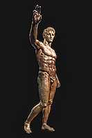 "Bronze statue of Perseus or Paris, known as ""The Antikythera Youth"" (340-330 B.C.) in National Museum, Greece"