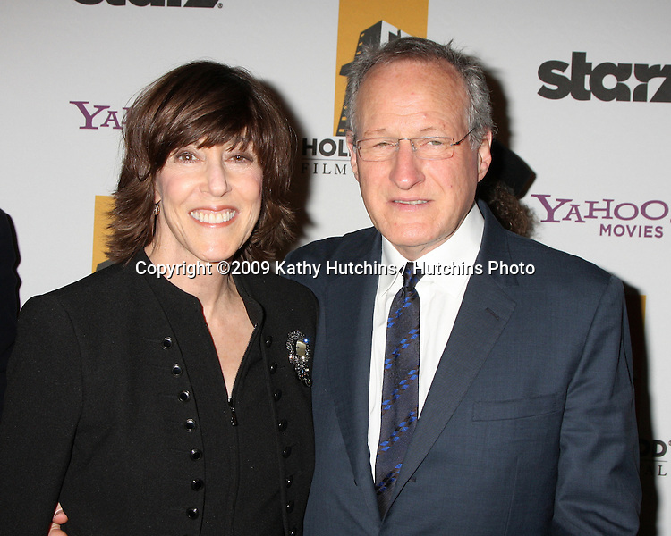 Nora Ephron & Michael Mann.arriving at the 13th Annuall Hollywood Film Festival Awards Gala Ceremony.Beverly Hilton Hotel.Beverly Hills,  CA.October 26, 2009.©2009 Kathy Hutchins / Hutchins Photo.