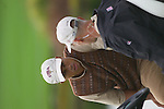 Tiger Woods consults with USA Team Vice Captain Corey Pavin during Practice Day2 the 2006 Ryder Cup at The K Club 21st September 2006.( Photo Eoin Clarke/Newsfile).
