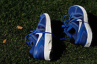 Spikes or sports shoe for baseball, .Entrenamiento matutino de el equipo de ligas mayores Royals de Kansas City realizado en el Surprise Recreation Complex de Arizona.