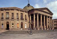 The 19th century neoclassical style Teatro de la Paz in the city of San Luis Potosi, Mexico