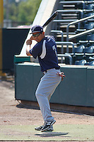 Pensacola Blue Wahoos infielder Ray Chang (7) before a game against the Jacksonville Suns at Bragan Field on the Baseball Grounds of Jacksonville on May 11, 2015 in Jacksonville, Florida. Jacksonville defeated Pensacola 5-4. (Robert Gurganus/Four Seam Images)