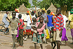 \Children roam the market of Rumbek town in South Sudan.