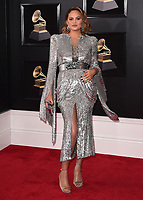 NEW YORK - JANUARY 28:  Chrissy Teigen at the 60th Annual Grammy Awards at Madison Square Garden on January 28, 2018 in New York City. (Photo by Scott Kirkland/PictureGroup)