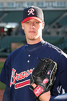 Richmond Braves Phil Stockman during an International League game at Frontier Field on April 17, 2006 in Rochester, New York.  (Mike Janes/Four Seam Images)