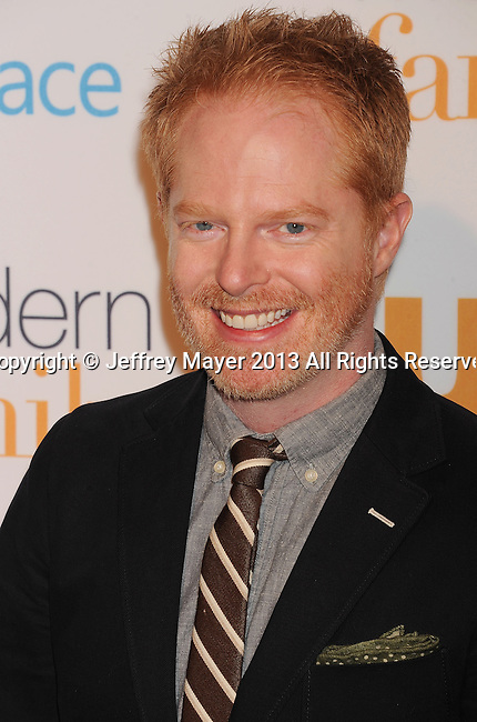 WESTWOOD, CA- OCTOBER 28: Actor Jesse Tyler Ferguson arrives at the 'Modern Family' Fan Appreciation Day at Westwood Village Theatre on October 28, 2013 in Westwood, California.