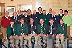 CAPTAINS: Pictured at the 2008 Club Captains meeting in Killarney Golf and Fishing Club on Monday night were front l-r: Tom Curran (Dooks), Eamon English (Waterville), Tom O'Sullivan (Waterville/Outgoing Kerry Captain), Tom Foley (Dooks/Incoming Kerry Captain), Tim O'Meara (Killarney) and John P O'Shea (Dooks/Treasurer). Back l-r: Mick Clifford (Castlerosse), Karl Schubert (Ceann Sibeal), Tim O'Mahony (Beaufort), Jim Crowley (Ardfert), Patrick O'Sullivan (Listowel), John Geaney (Castleisland), Tom Corridan (Ballybunion), John Doolan (Beaufort), Eugene O'Sullivan (Kenmare), Michael O'Neill (Ballyheigue) and Robert Gallagher (Killorglin).