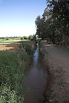 Irrigation channel, Tinerhir, Morocco, north Africa