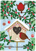 Kate, CHRISTMAS SYMBOLS, WEIHNACHTEN SYMBOLE, NAVIDAD SÍMBOLOS, paintings+++++Christmas page 72,GBKM199,#xx# ,red robin