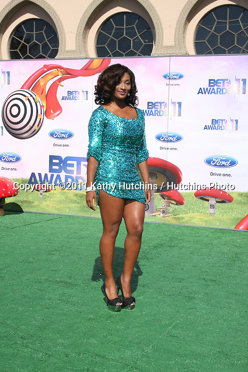 LOS ANGELES - JUN 26:  Toccara arriving at the 11th Annual BET Awards at Shrine Auditorium on June 26, 2004 in Los Angeles, CA