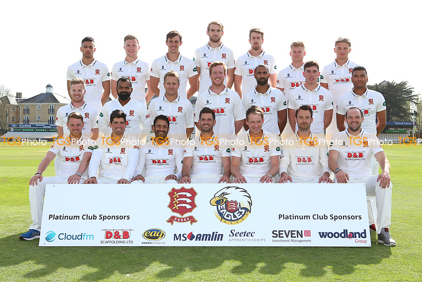 Essex CCC team photograph in Specsavers County Championship kit during the Essex CCC Press Day at The Cloudfm County Ground on 5th April 2017